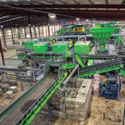 Recycling plant designed and built by Turmec