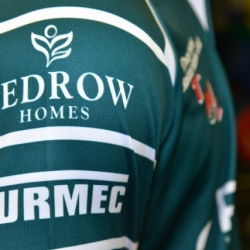 Turmec's logo on London Irish Rugby jersey