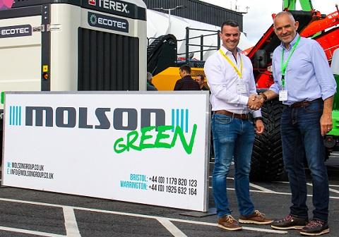 (l-r) Turmec's Brian Thornton and Robin Powell from Molson Green